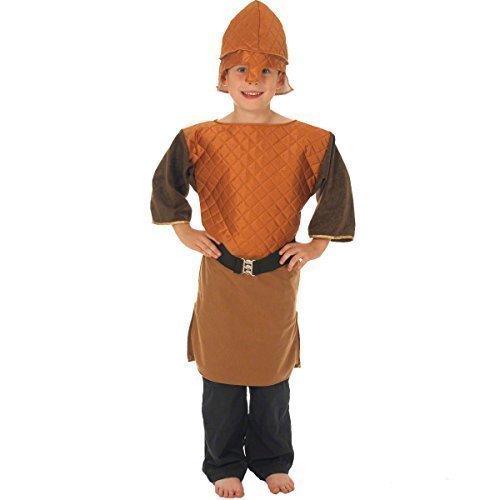 (Jungen Mädchen Nordic Wikinger Historisch Schulbuch Tag Kostüm Kleid Outfit - Jungen, 8-10 years (140cms))
