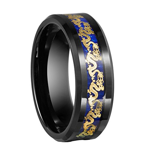 queenwish-8mm-black-tungsten-carbide-ring-gold-plate-dragon-blue-carbon-fibre-inlay-wedding-bands-in