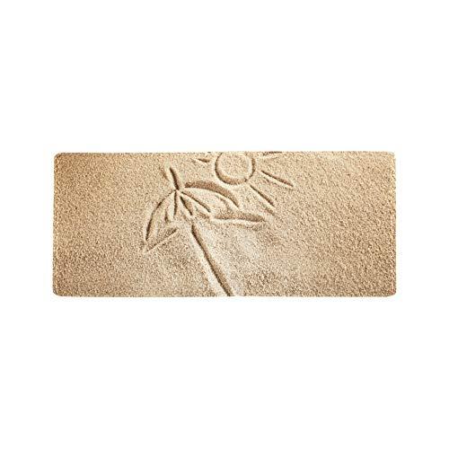 Painted Palms In Sand Beach Kühle Leder Visitenkarte Münze Id Beutel Inhaber Reise Clutch Geldbörse Geldscheinklammer Brieftasche Fall Für Mädchen Männer Und Frauen Vordere Tasche Scheckheft -