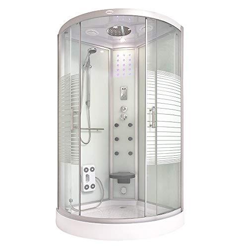Home Deluxe - Dampfdusche - White Pearl - Maße: 90 x 90 x 220 cm - inkl. komplettem Zubehör