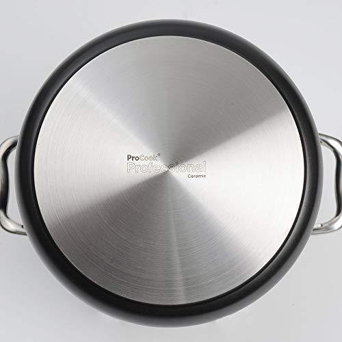ProCook Professional Ceramic Fleischtopf mit Deckel mit Keramikbeschichtung, induktionsgeeignet, 24 cm Ø, 7,2 l Volumen
