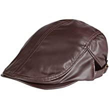 47423a40e7087 Panegy - Sombrero Gorro de Visera de PU Para Hombre Mujer Casual Gorro  Color Sólido Unisex