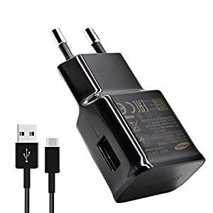 Samsung Galaxy Compatible 2 Amp Fast TYPE - C Charger With TYPE - C USB Data Cable For Samsung Galaxy S8 , S8 edge , C9 Pro, C7 Pro(2017) , Samsung Galaxy A7 (2017) - Black