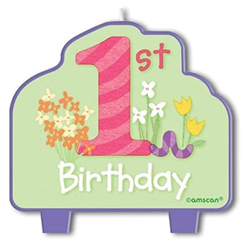 Beistle Company 1St Birthday Girl Molded Candle