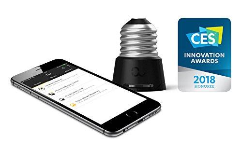 Anyware Smart Adaptor – Ihr All-in-One-Smart-Home-System in einem angeschlossenen Gerät für Ruhe, Sicherheit und Fernüberwachung! Konvertiert E27 zu E14 LED Glühbirnen