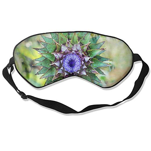 Unique Thistle Purple Flowers 99% Eyeshade Blinders Sleeping Eye Patch Eye Mask Blindfold For Travel Insomnia Meditation Purple Thistle