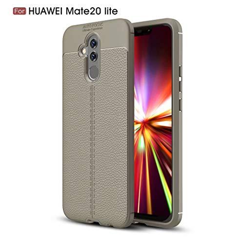 WYRHS Kompatibel mit Huawei Mate 20 Lite Hülle Soft Silicone TPU Telefonkasten,Ultra dünn Stoßfest Kratzfest HandyHülle-Grau