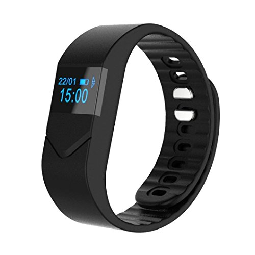 OPTA SW-016 Black Bluetooth Smart Band with Blood Pressure, Blood Oxygen ,Heart Rate and Fitness Health Sport Bracelet compatible with Samsung IPhone HTC Intex Vivo Mi One Plus and many others! Launch Offer!!