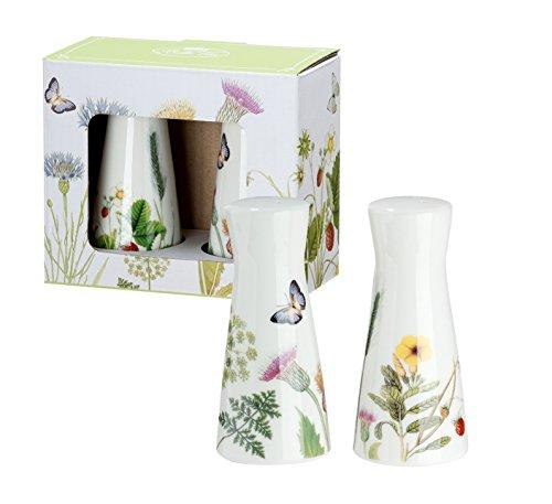 GILDE Salz und Pfeffer Streuer Wilde Blumewiese Wild Flower Shabby Landhaus Porzellan