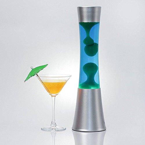 """Schöne Lavalampe """"Sandro"""" in blau - grün / 39 cm hoch / mit Kabelschalter / Lavaleuchte"""