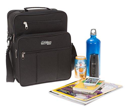 SOUTHWEST Flugumhänger BLACK Arbeitstasche Reisetasche Tasche + Etui (1 Vortasche SCHWARZ) 1 Vortasche SCHWARZ