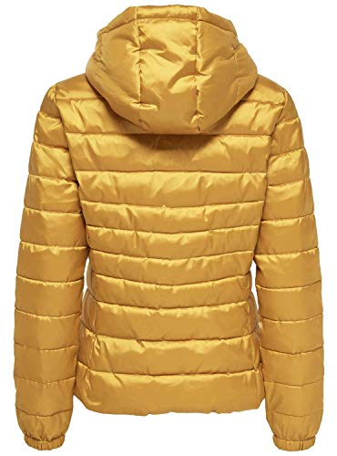 ONLY Damen Steppjacke Übergangsjacke Kapuzenjacke, Gelb Golden Yellow - 2