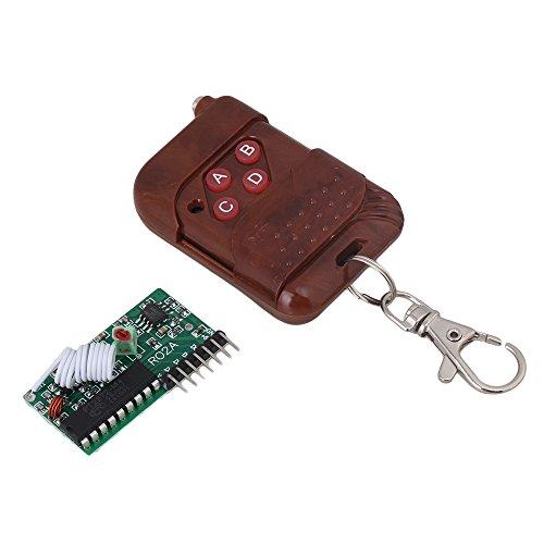 cnbtr braun DC5V 4Kanäle 433MHz RF Radio Wireless Fernbedienung Controller Module
