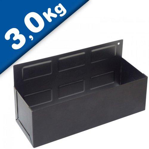 Magnetische Ablage, Magnetschale 210 x 110 x 85 mm - Haftkraft 3 kg - Hervorragend für die Ausstattung von Werkstattwagen, Werkzeugkiste, Bedienwagen, Werkzeugwand, Hebebühnen
