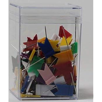 100 Markierungsfahnen Markierungsfähnchen Pinnadeln Pins für Pinnwand Weltkarte