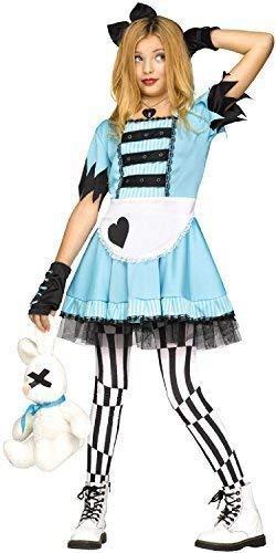 Fancy Me Mädchen Teen Wild Wunderland Alice Märchen Tv Buch Film Halloween Kostüm Kleid Outfit 7-14 Jahre - 7-9 Years