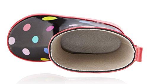 smileBaby Gummistiefel verschiedene Farben und Größen Schwarz / Punkte
