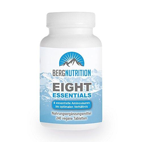Berg Nutrition Eight Essentials - 8 essentielle Aminosäuren - 240 vegane Tabletten