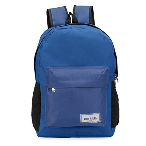 Chris & Kate Blue School Bag | College Bag | Casual Backpack (21 litre) (CKB_136RB)  available at amazon for Rs.199
