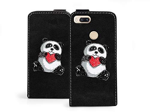 etuo Xiaomi Mi5X - Hülle Flip Fantastic - Panda - Handyhülle Schutzhülle Etui Case Cover Tasche für Handy