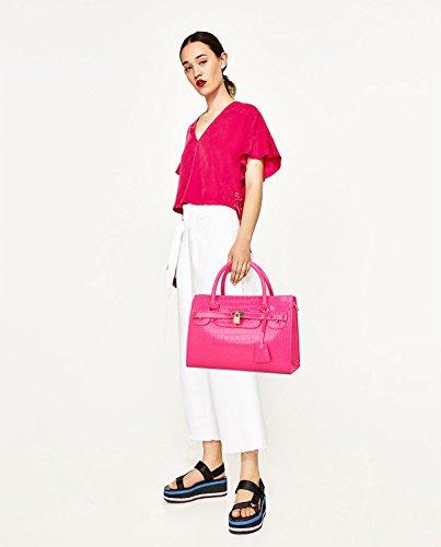 Sunas Estate nuova Femminile Borsa a mano Moda Borsa messenger Top borsa Platinum coccodrillo modello big bag Rose