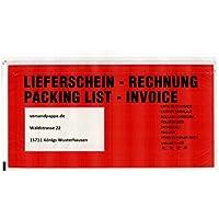 250 St. selbstklebende DL Dokumententaschen 240x125 mm Lieferscheintaschen DIN Lang Rechnungstaschen LD