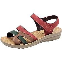 337e9ff063cb5 Logobeing Sandalias Mujer Verano 2019 Plataforma Moda de Verano Sandalias de  Cuero Cuñas Confort Zapatos Zapatillas
