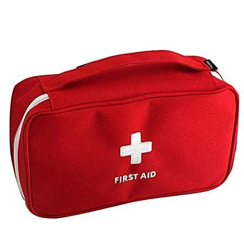 qotone tragbar Tasche Erste Hilfe First Responder Aufbewahrungstasche leer Kit Bag Reise Sport rot