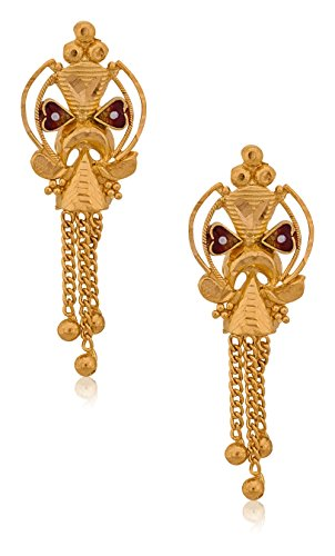 Senco Gold 22k Yellow Gold Drop Earrings