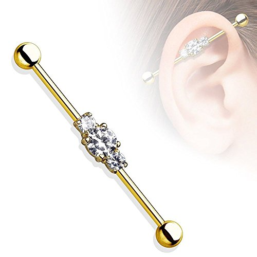 14g-industrial-barbell-black-or-gold-with-three-gems-anodized-surgical-steel-gold
