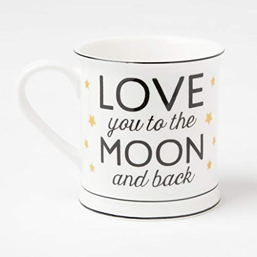 "Kaffeetasse ""Love you to the Moon and back"""""