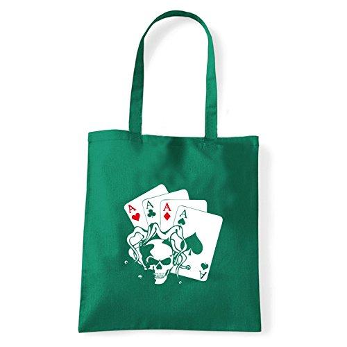 Art T-shirt, Borsa Shoulder skullaces Verde