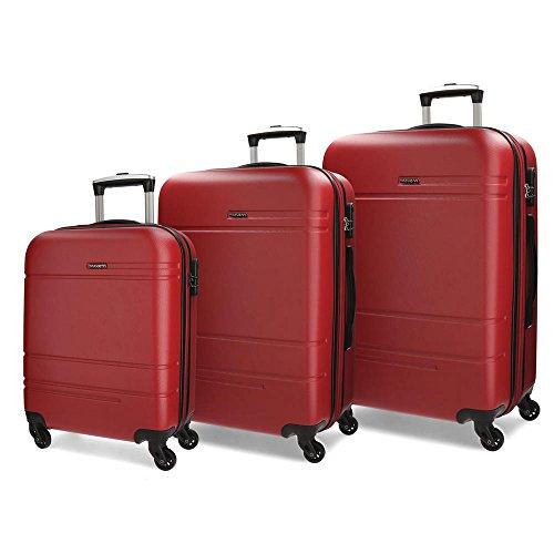 Movom Matrix Juegos de maletas, 79 cm, 221 litros, Rojo