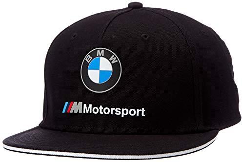 BMW MOTORSPORT Herren Flatbrim Black Baseball Cap, Schwarz (Herstellergröße: One Size)