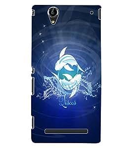 ColourCraft Zodiac Pisces Design Back Case Cover for SONY XPERIA T2 ULTRA