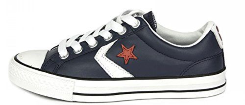 Converse Unisex – Adulto Leather scarpe sportive Navy/White/Red