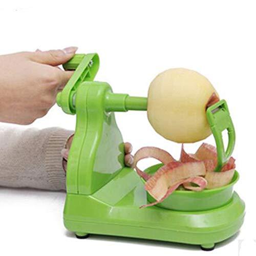 WSJS Apple sbucciatore a Gomito a Mano della Frutta pelatrice Multi-Funzione Rotonda Frutta pelatrice casa Cucina Semi-Automatico sbucciatura Coltello Verde Cintura Portatile 200 × 130.8 × 110.5 mm