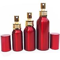 2PCS 30ml/50ML/100ML rosso lega di alluminio vuota spray ricaricabile da