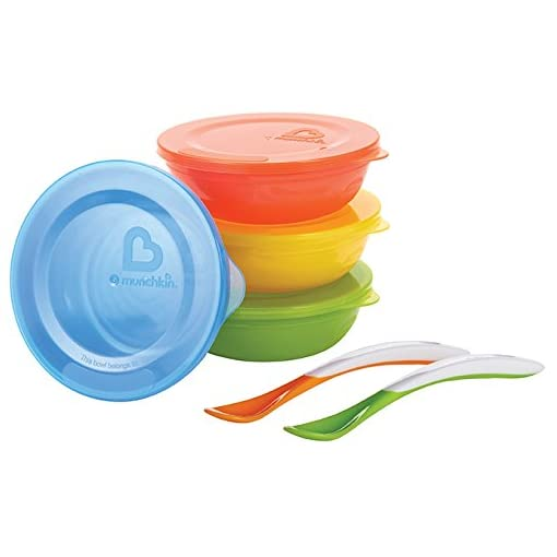 Munchkin Love a Bowls, 10 Piece Bowl and Spoon Set 41tLyuco 2BBL