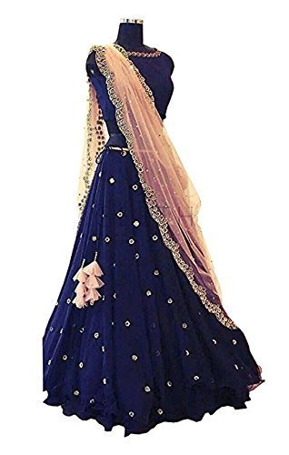 Roop Craft women\'s Designer Lehengha Choli For Wedding And Party (Blue_Latkan_#RP) for amazon summer sale