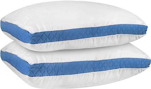 Utopia bedding cuscini (confezione da 2) - guanciali, cuscini letto - ipoalergenico e di facile manutenzione (blu, 45x74 cm)