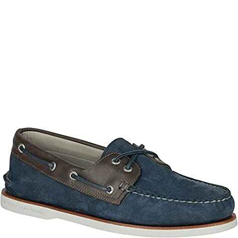 Sperry Top-Sider Men's Gold A/O 2-Eye Camino Blue/Grey Flat