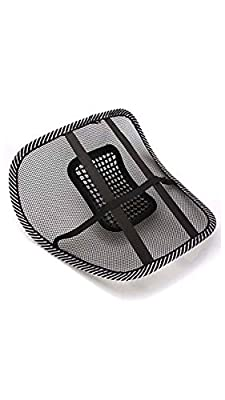 Generic (unbranded) Mesh Ventilation Back Rest with Lumbar Support (Pack of 2, Black)