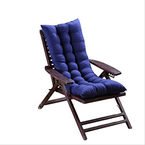 AINIYUE Outdoor Stuhl Kissen, Wohnzimmer Stuhl Lange solid Seat Pad, Baumwolle Stuhl Sofa Matte, für weiche Sendezeit 48X125cm blau