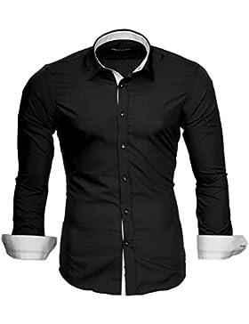 [Sponsorizzato]Merish Camicia Uomo Slim Fit,Camicia, manica corta adatto per tutte le occasioni,casual e chic 8 diversi Colori...