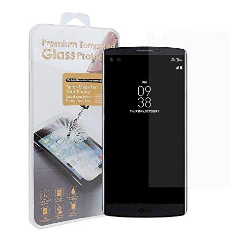LG V10 Display Schutzfolie, xhorizon (TM) MW8 [erstklassiger ausgeglichenes Glas] [Kratzfest, Fingerabdrücke & Oil] Explosionsgeschützter Display Schutzfolie-Film für LG V10 mit Kleinpaket