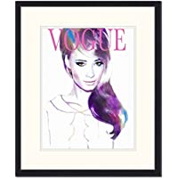 "Jacob Baden ""Vogue Cover Illustration Framed Print, Multi-Colour preiswert"