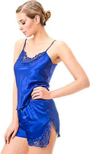stylenmore - Ensemble de pyjama - Uni - Femme Bleu - Bleu