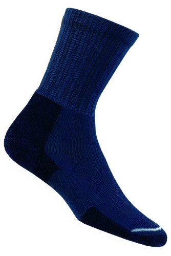 Herren 1 Paar Thorlos Wandern Dickes Kissen Socken mit Thorlon In 3 Farben - 8.5-12 Mens - Dark Blue - Kissen Boot Bogen