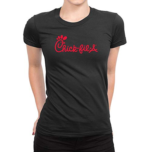 43cfc6e1 HELUXUEA Damen Chick-Fil-A Logo T Shirts schwarz Small